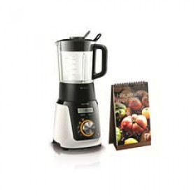 PHILIPS AVANCE COLLECTION BLENDER CHAUFFANT HR2098/30 100W,40 CUISSONS AUTO BOL EN VERR
